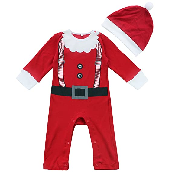 dPois 2pc Conjunto de Trajes Navidad Ropa de Bebé Niño Niña Romper ...