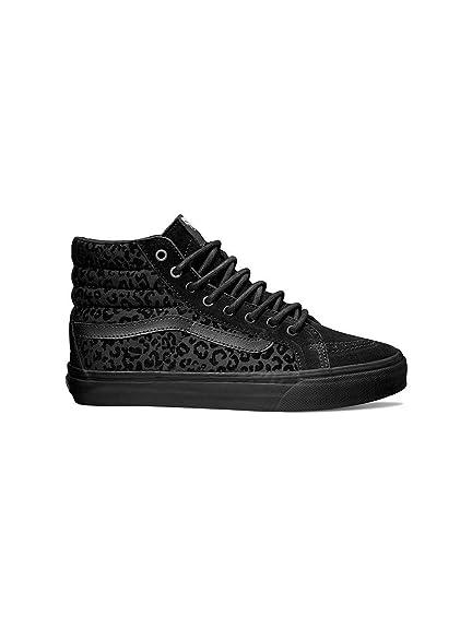 Vans U Sk8 hi Fin (Cheetah) Noir, Chaussures Basses Mixte