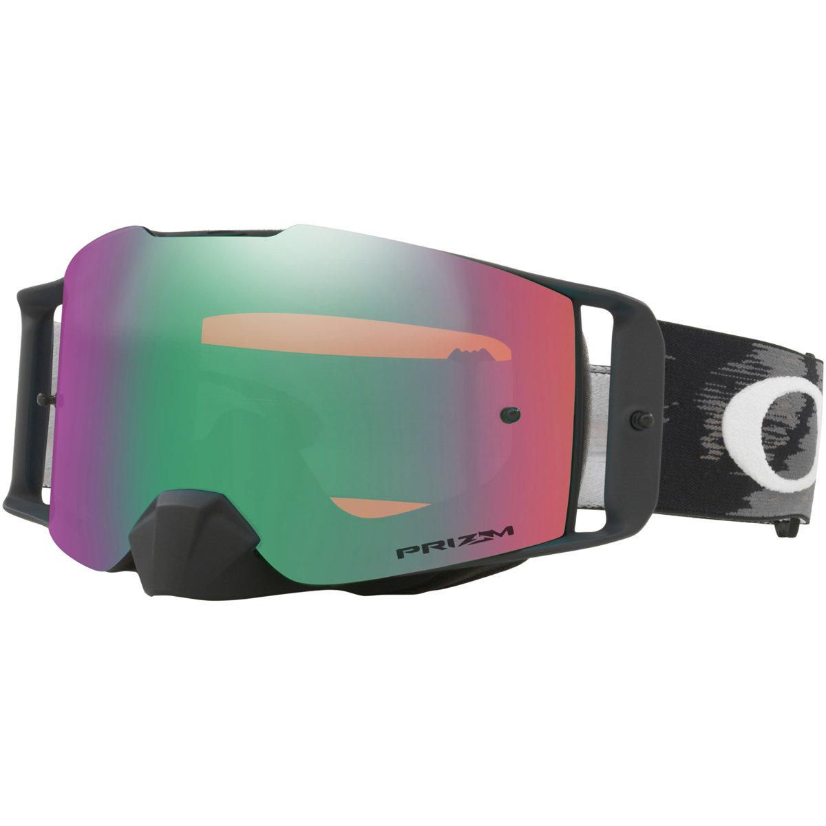 Oakley FL MX Matte Black Speed with PrizmJadeIrid unisex-adult Goggles (Black, Large), 1 Pack
