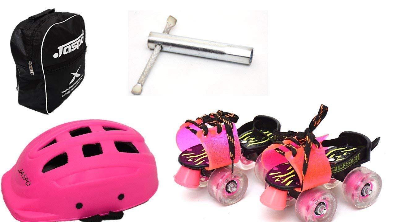 Jaspo Derby Dolls Dual Junior Adjustable Roller Skates Combo Suitable for Age Group Upto 5 Years