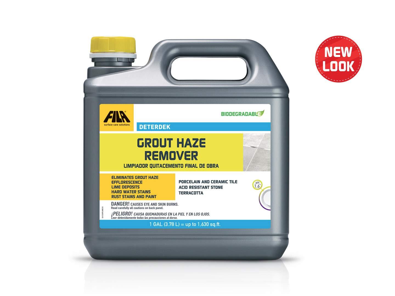FILA Surface Care Solutions DETERDEK Haze Remover, Grout Cleaner for  Porcelain, Ceramic Tile, Terracotta, Acid Resistant Stone, Eco-Friendly, 1  Gallon