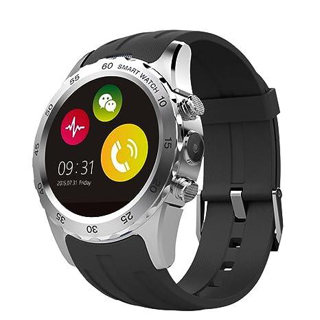 Elegante reloj inteligente teléfono reloj redondo sumergible/Bluetooth 4,0/Fácil conexión /