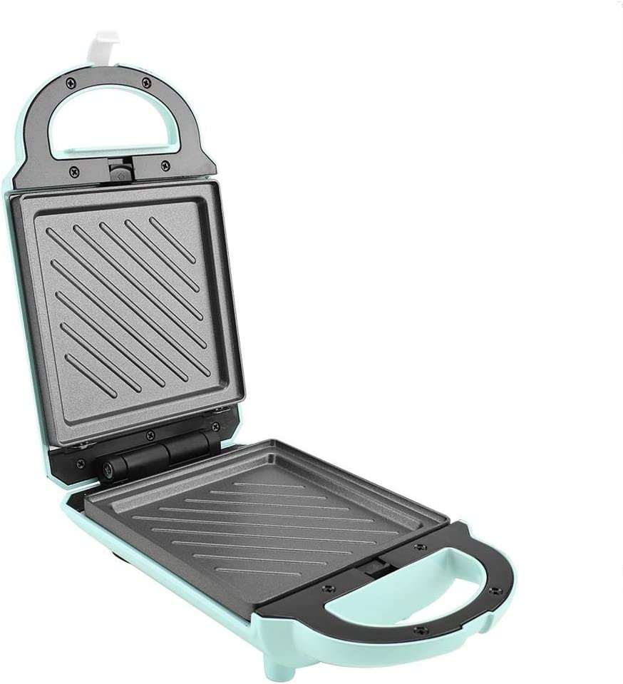 640W Reversible Waffle Maker Non-Stick Baking Mold Pan Aluminum Alloy Waffle Cone Maker Breakfast Waffle Omelette and Sandwich Maker Cooking Baking Tool Green