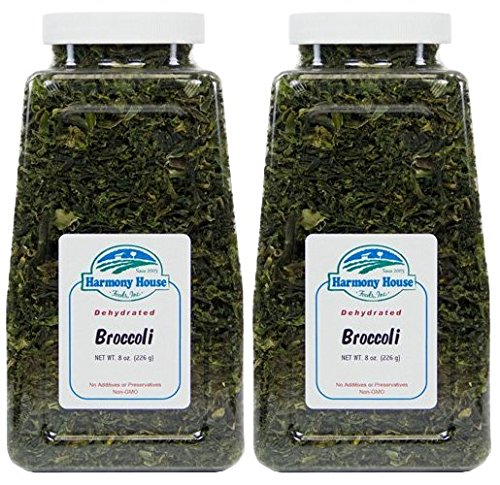 Harmony House Foods Dried Broccoli Flowerets (8 oz, Quart Size Jar) - Set of 2 (Baby Food Dehydrated)
