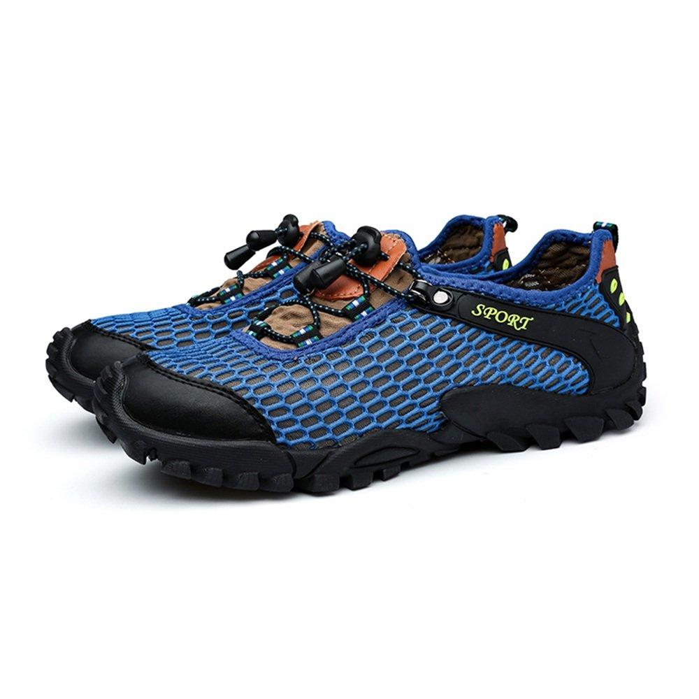 Xiaojuan-schuhe, 2018, Männer Mesh Stoff Vamp Flat Heel Heel Heel Lace Up Outdoor-Sportschuhe (Farbe   Blau, Größe   40 EU) 315f28