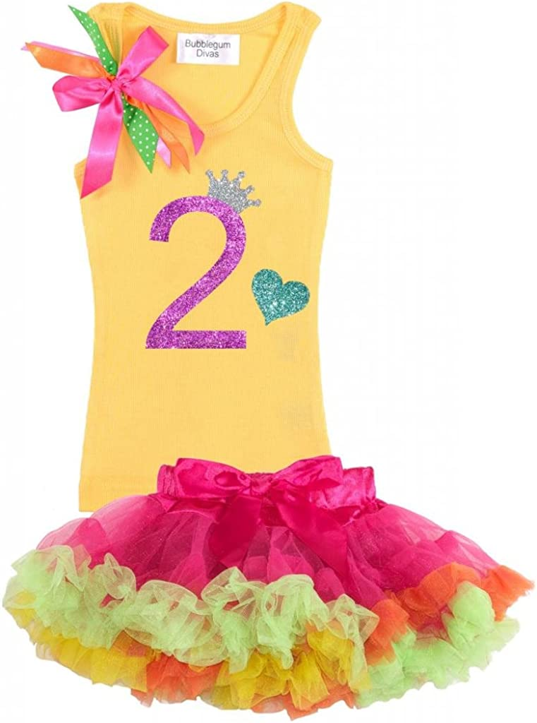 Bubblegum Divas Big Girls 9th Birthday Rainbow Princess Butterfly Tutu Outfit
