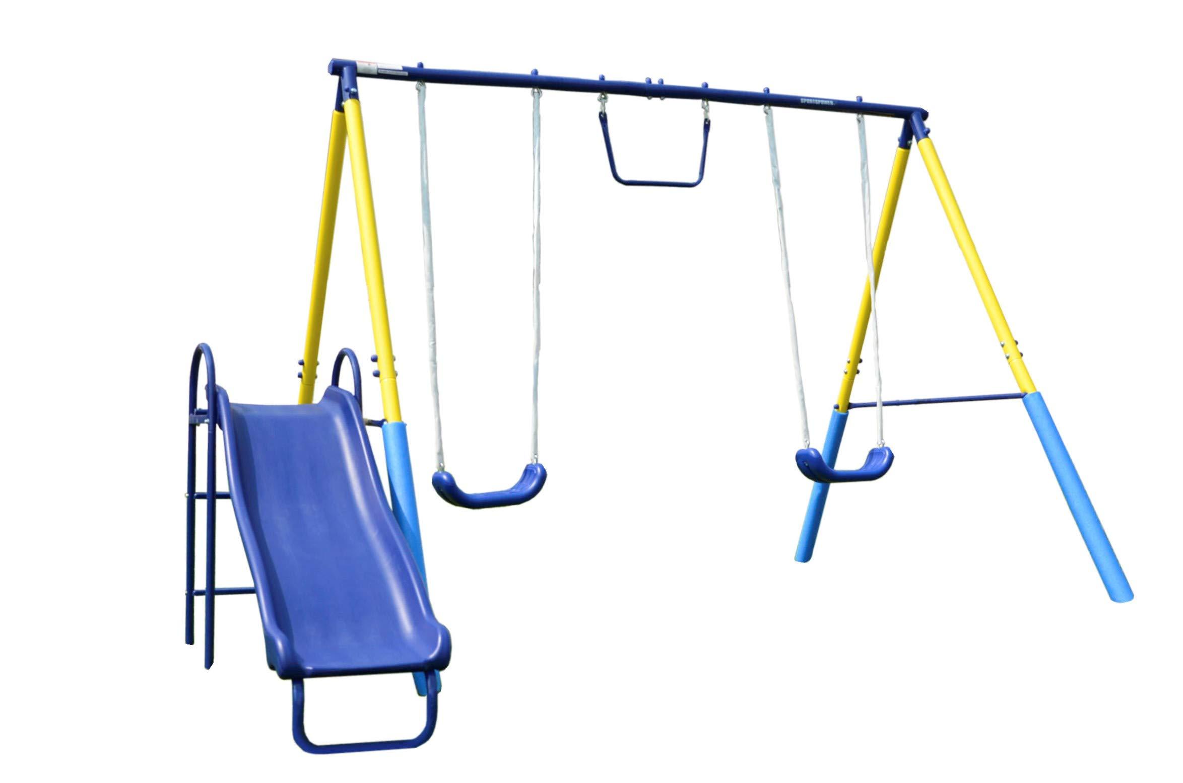 Sportspower My First Metal Swing Set with Slide by Sportspower