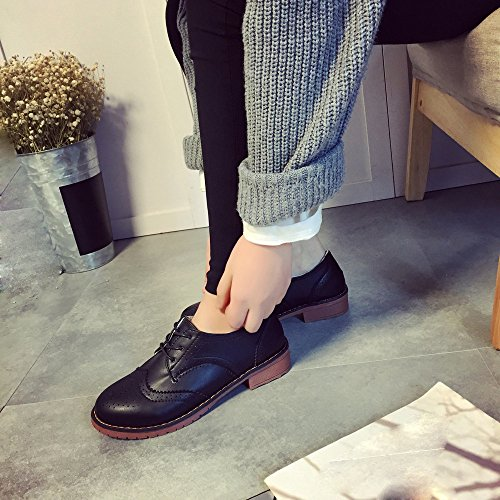 Piel de Zapatillas de nordic hunpta para mujer Sintética walking negro ZXFxnn4O