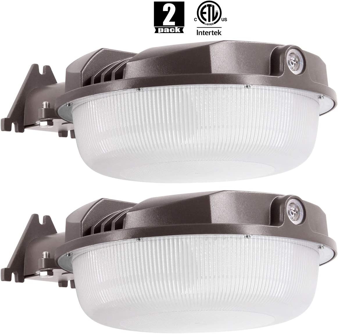 2Pack LED Yard Light 70W (Photocell Included),LED Dusk to Dawn(250-1000W Equiv.),5000K Daylight Floodlight, DLC & ETL-Listed Yard Light for Area Lighting, Wet Location Available50K