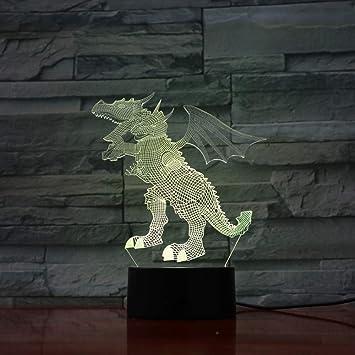KAIYED Luz De Noche De Visión 3D Led Colores De ...