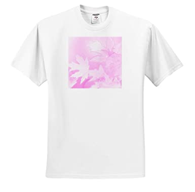 3dRose Stamp City - T-Shirts Nature an Abstract Photograph of Maple Leaves with an ICY Pink Affect