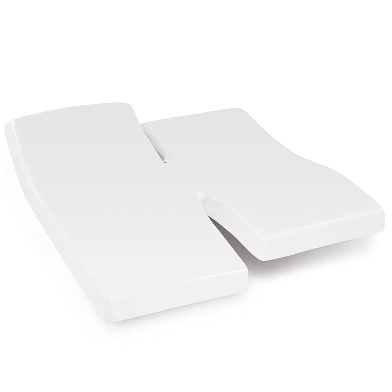 Drap Housse 2x90x200 Uni Coton Blanc Tpr T Te Et Pied Relevable