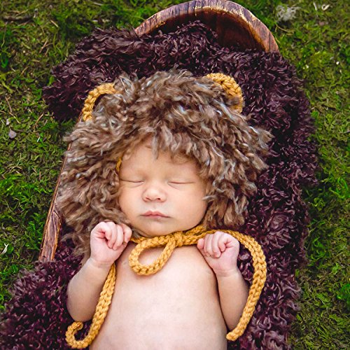 Handmade Lion Costume - 0-3 Month Baby Lion Halloween Costume