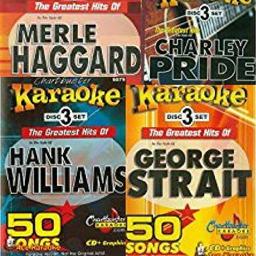 Chartbuster Karaoke CDGs 200 Tracks George Strait, Merle Haggard, Charley Pride, and Hank Williams Dealer Nation SP111 ()