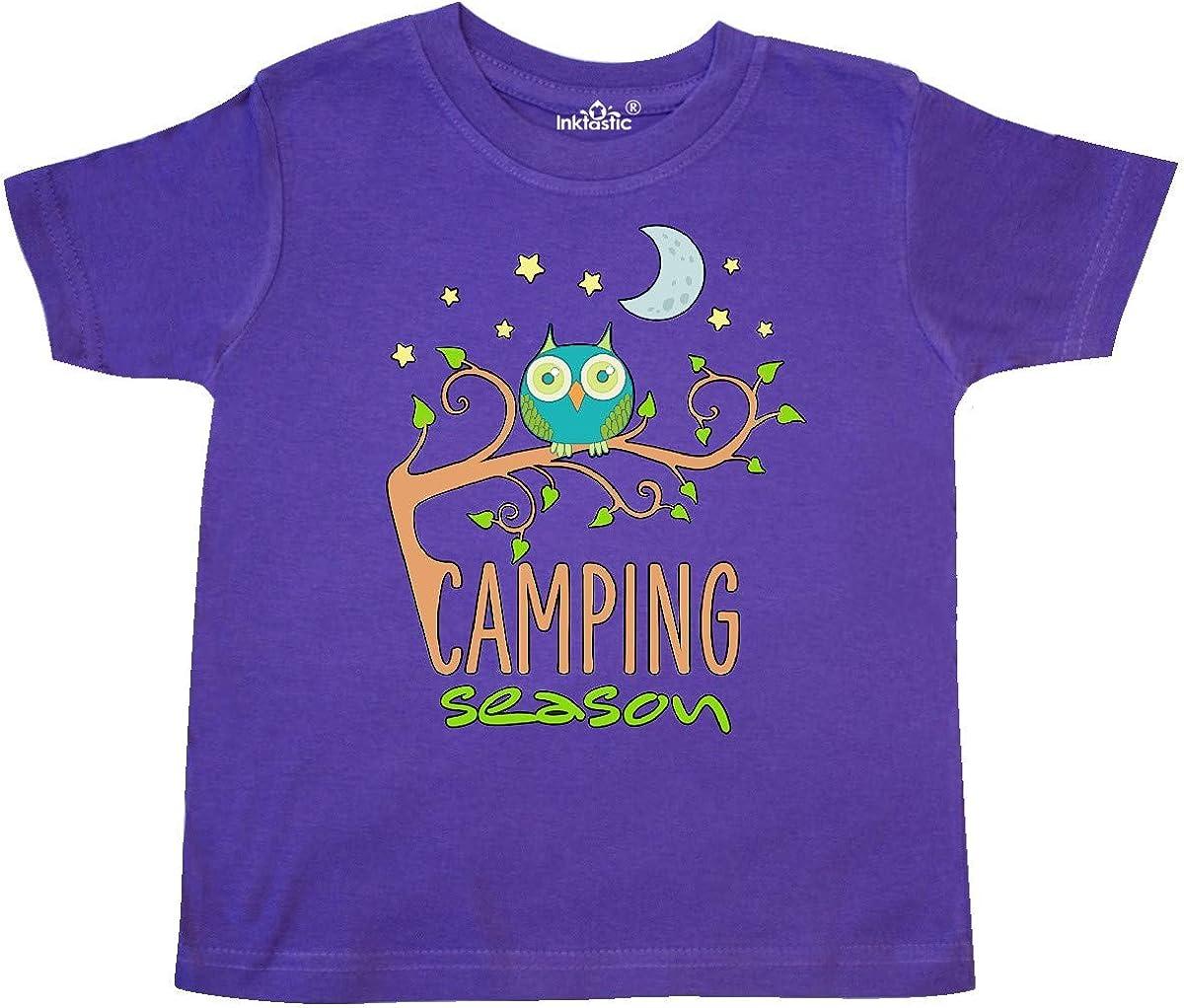 inktastic Camping Season Owl in a Tree Night Sky Toddler T-Shirt