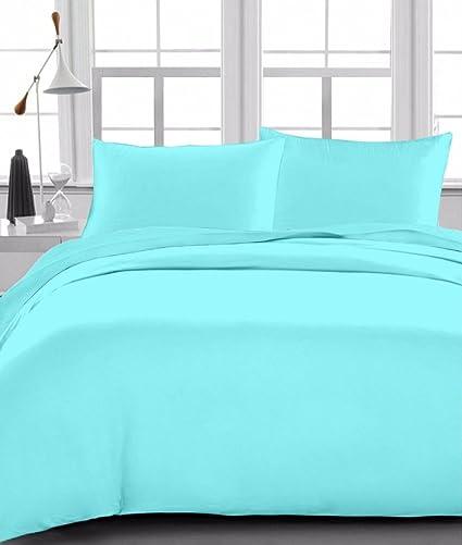 Sleepwell Ropa de cama 600 hilos satén acabado, Super suave 6 pc de juego de