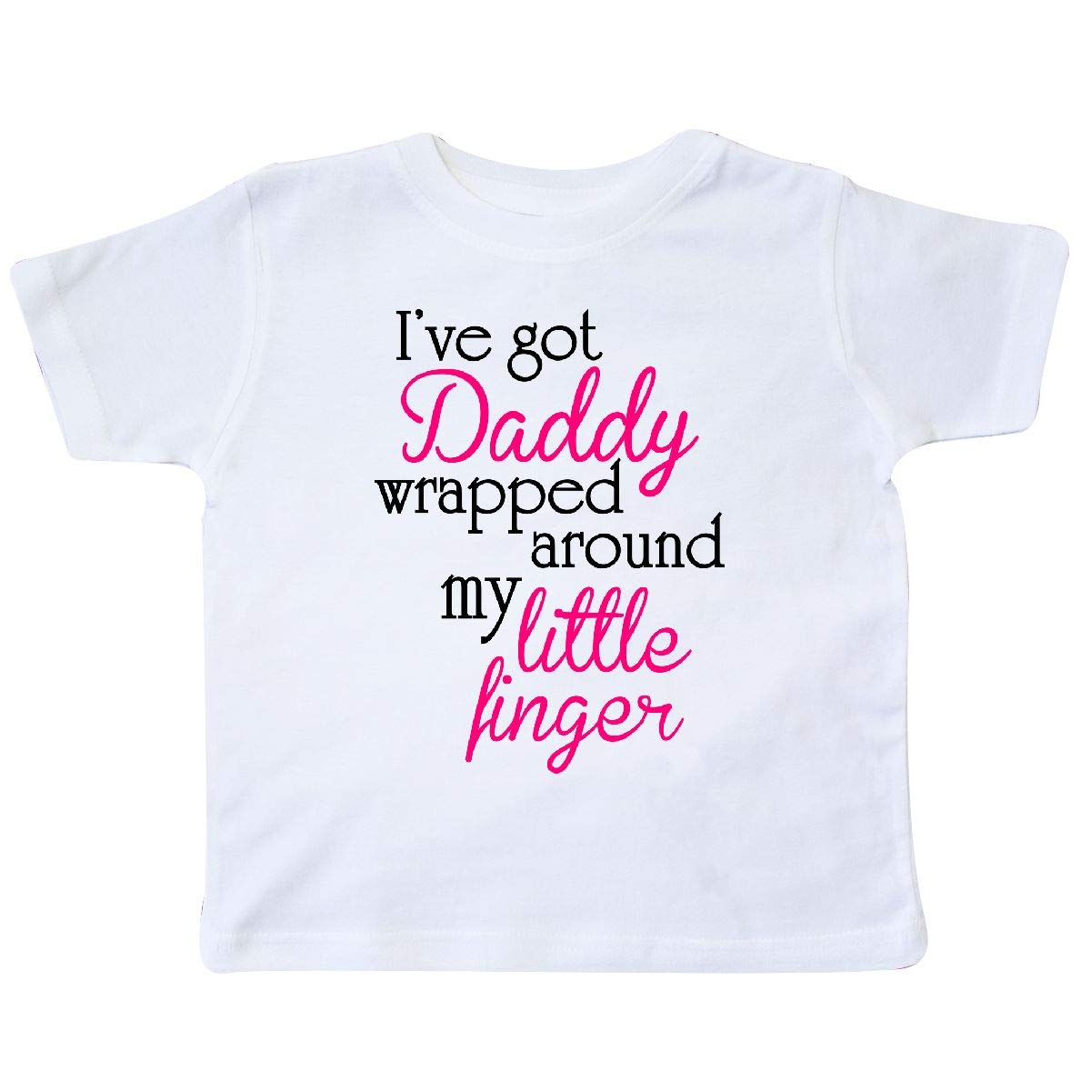 inktastic Ive Got Daddy Wrapped Around My Little Finger Toddler T-Shirt