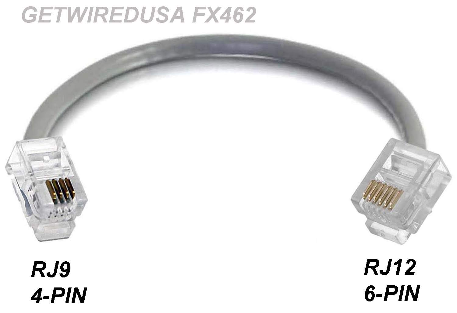 RJ9 RJ10 RJ22 4P4C 4-PIN to RJ12 RJ11 6P6C 6-PIN NETWORK PHONE HEADSET JACK MALE CABLE ADAPTER by getwiredusa