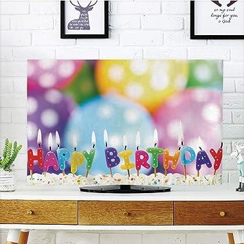 Cubierta de polvo para televisor LCD, decoración de cumpleaños ...