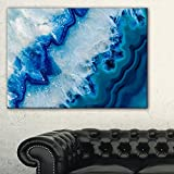 Designart Geode Slice Macro Abstract on Canvas Art Wall Photgraphy Artwork Print