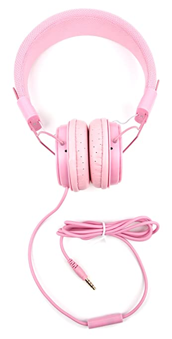 DURAGADGET Pretty Pink Ultra-Stylish Kids Matching Fashion Headphones for Hello Kitty Portable CDG Karaoke Machine Electronics for Kids