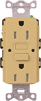 Midnight Lutron SCR-15-GFST-MN Claro Satin Colors 15-Amp Self-Testing Receptacle