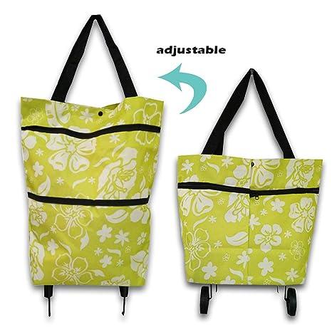 Bolsa de la compra plegable, bolsa de la compra plegable con ruedas, carrito de la compra, bolsa de la compra reutilizable reutilizable