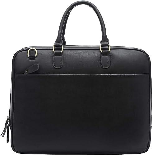 Mens Handbag Shoulder Briefcase Leather Business Mens Bag Casual Top Layer Leather Shoulder Bag 14 Inch Laptop Bag 5 Colors Available Laptop Messenger Bag
