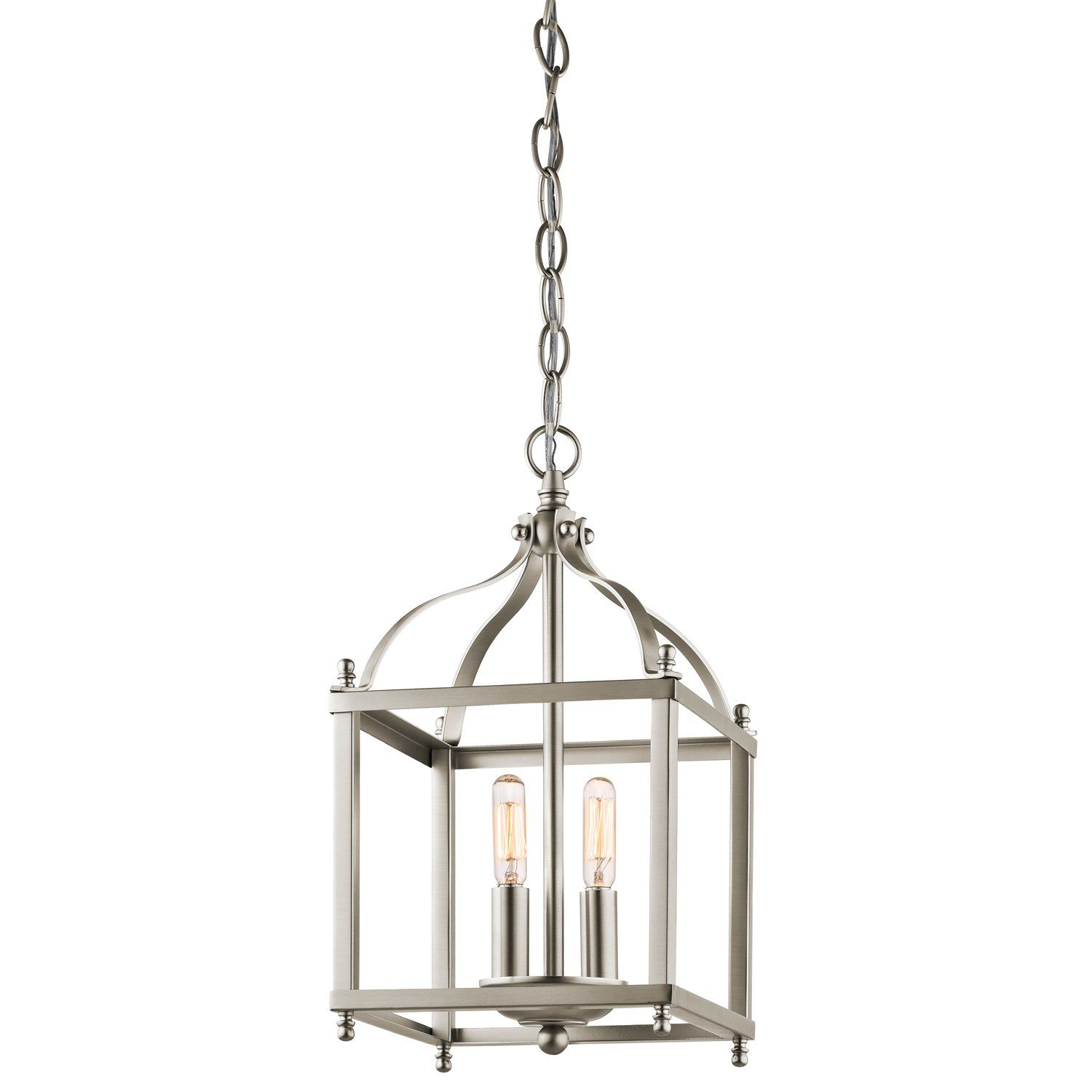Kichler 42565ni larkin 2 light foyer pendant in brushed nickel kichler 42565ni larkin 2 light foyer pendant in brushed nickel ceiling pendant fixtures amazon arubaitofo Gallery