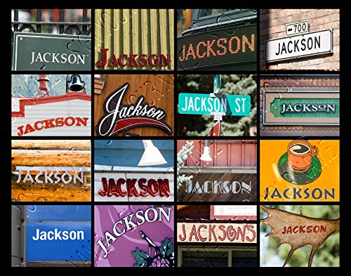 JACKSON Personalized Name Poster Using Sign Photos - (Sign Photos Name Shower)