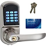 HAIFUAN Right Hand Electronic Keyless Code Door Lock,Unlock With Code,Mifare Card, And Mechanical Key