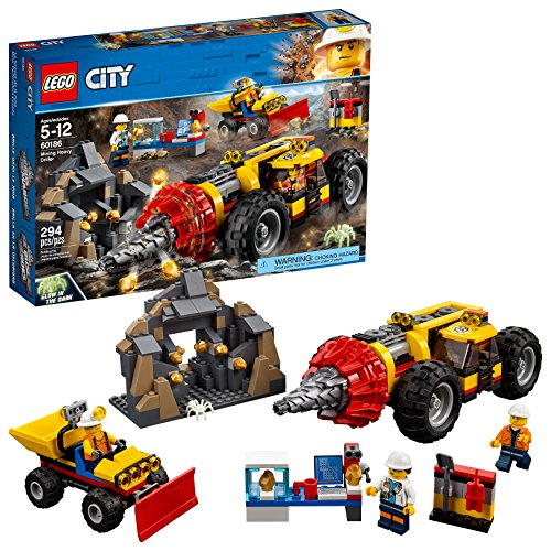 LEGO City Mining Heavy Driller 60186 Building Kit (294 Piece)