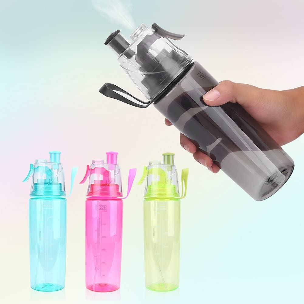600ML Sport Camping Hiking Mist Spray Water Keep Face Wet Bottle Drinking Cup