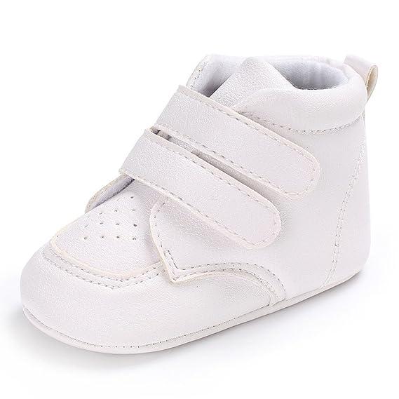 YanHoo Zapatos para niños Zapatos de Suela Blanda con Bordado de bebé Bebé niña niños en Forma de corazón Bordado Zapatos de Corte Alto Zapatillas ...