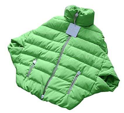 2bb5ea146 ARTFFEL-Women Lightweigh Packable Short Sleeve Down Puffer Cloak ...