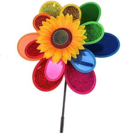 HShyxlkj Juguetes de Exterior Colorido Girasol Molino de Viento Molinillo de Viento Juguete para niños Patio Jardín Decoración – Color al Azar: Amazon.es: Hogar