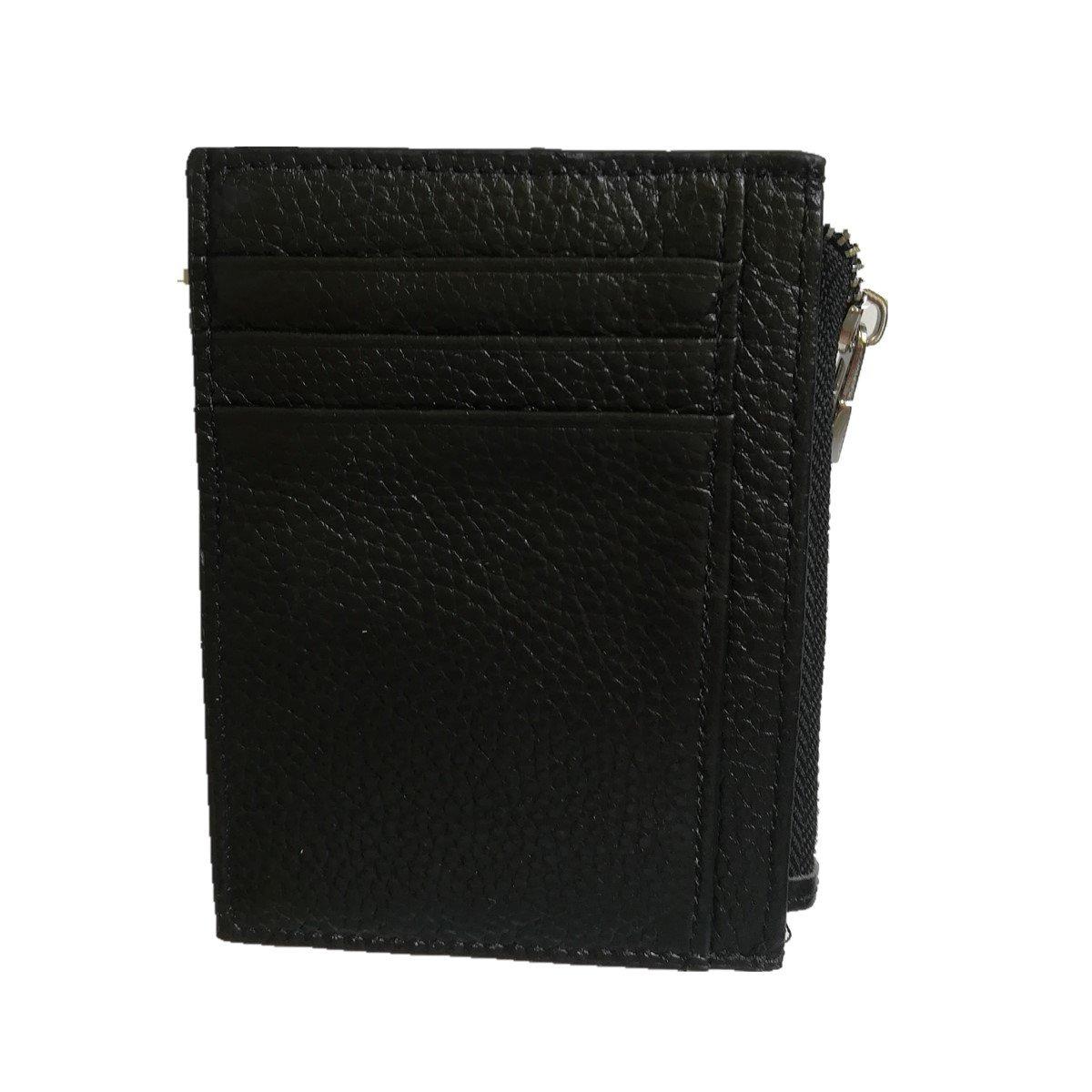 Credit Card Holder,Jingleer Slim RFID Blocking Front Pocket Leather Credit Card Wallet for Men,7 Card Slots & Imported Genuine Leather