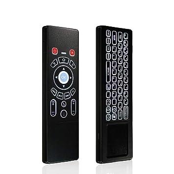KEZIO [Ratón de Aire T6 de 2,4 GHz inalámbrico Mini Teclado con Panel táctil con