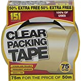 151 Clear Packaging Tape 48mm x 75m by Stationary