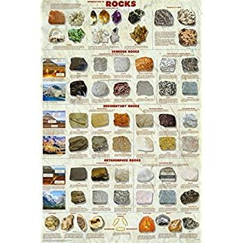 Amazon.com: (24x36) Introduction to Rocks Geology