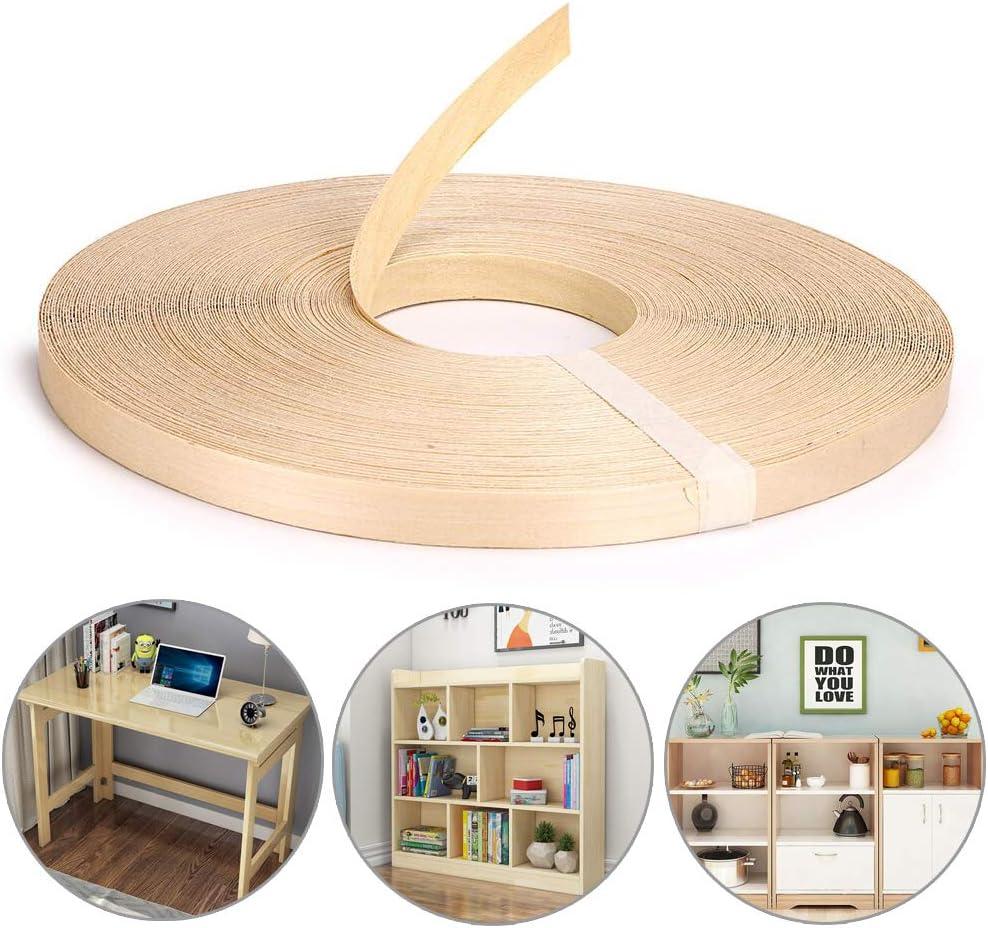Cinta adhesiva Hotmelt Cinta adhesiva para bordes de chapa de madera prepegada con planchado Roble 50 Hoja de borde de madera de f/ácil aplicaci/ón Frylr Fabricado en Estados Unidos
