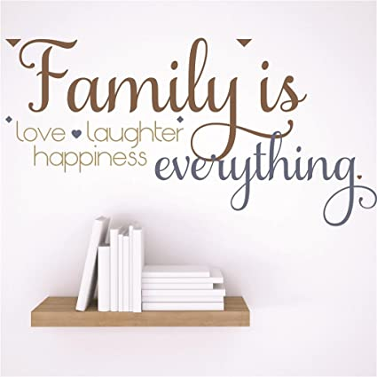Discounted Sticker Decal Family Is Love Laughter Happiness