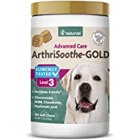 NaturVet ArthriSoothe-Gold Level 3 Advanced Joint Care for Dogs – Soft Chew Dog...