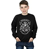 HARRY POTTER niños Hogwarts Crest Camisa De Entrenamiento 9-11 Years Negro