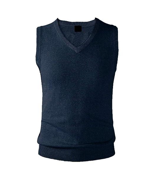 bcf6989511757 Pulle sans Manche Homme Vest Tricoté Douce Débardeur Hiver Automne Chaude  Extensible Gilet Col V Sobre