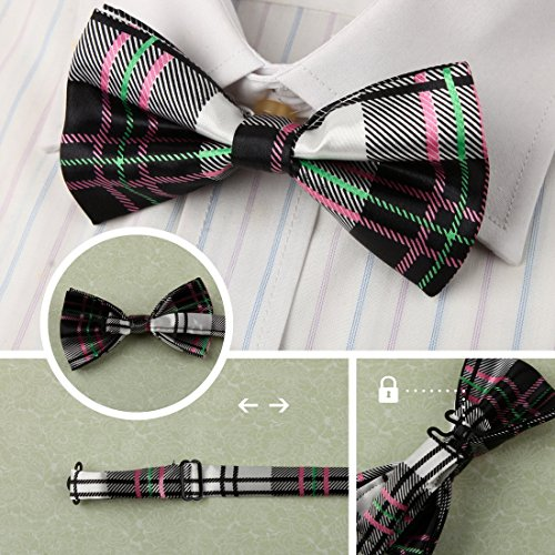 DBF0184 Excellent Bow Ties For Business Pre-tied Bow Ties - 5pc Luxury For Party By Dan Smith by Dan Smith (Image #3)