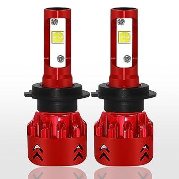 H7 - Bombilla LED pequeña para faros delanteros (12 V, 24 V, 9600
