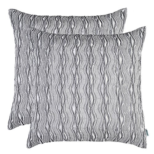Set of 2, Artcest Decorative Throw Pillow Case, Comfortable Solid Faux Silk Cushion Cover, Pintu ...