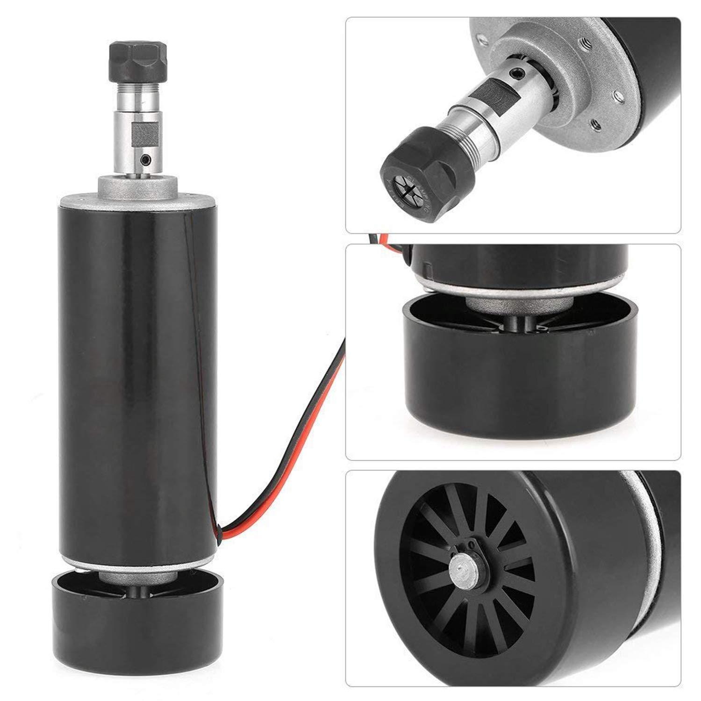 SODIAL Refrigerado por Aire 0.5Kw Husillo Refrigerado por Aire CNC 500W Motor de Husillo Regulador de Velocidad de Fuente de Alimentaci/óN para CNC DIY