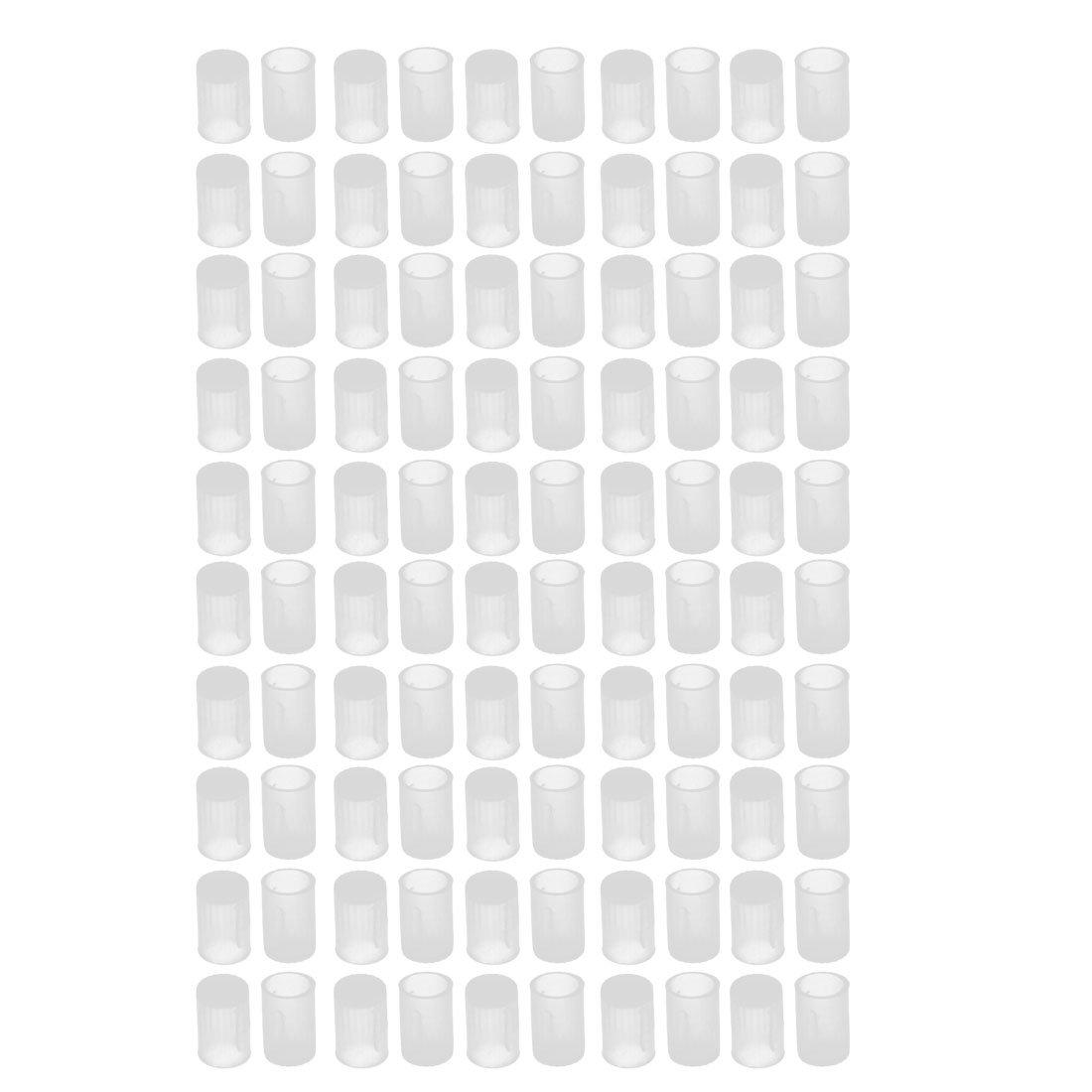 uxcell 100Pcs 6mm Inner Dia PE Plastic End Cap Bolt Thread Protector Tube Cover
